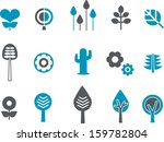 vector icons pack   blue series ... | Shutterstock .eps vector #159782804
