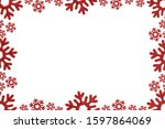 christmas card red background... | Shutterstock . vector #1597864069