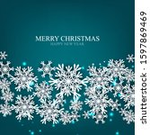 merry christmas party... | Shutterstock .eps vector #1597869469