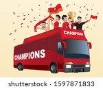 illustration of football club... | Shutterstock .eps vector #1597871833