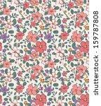 Stock vector seamless vintage tiny flower pattern background 159787808