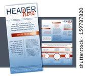tri fold flyer or brochure... | Shutterstock .eps vector #159787820