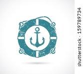 anchor and lifebelt symbol  ...