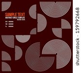 abstract circle line template.... | Shutterstock .eps vector #159792668