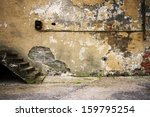Aged Wall With Stairs Detail