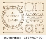 vintage frame design  elegant... | Shutterstock .eps vector #1597967470