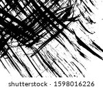 scratched texture background.... | Shutterstock .eps vector #1598016226