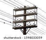 An Old Wooden Electric Utility...
