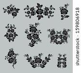flower set. vintage rose... | Shutterstock .eps vector #159806918
