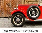 red rarity vintage car | Shutterstock . vector #159808778
