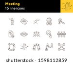 meeting line icon set. team ...   Shutterstock .eps vector #1598112859