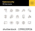 cybersecurity line icon set.... | Shutterstock .eps vector #1598120926