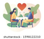 loving couple spending time or...   Shutterstock .eps vector #1598122210