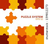 colored puzzle pattern ... | Shutterstock .eps vector #159812273