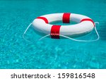 life ring at the pool. | Shutterstock . vector #159816548