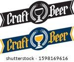 craft beer banner style badge... | Shutterstock .eps vector #1598169616