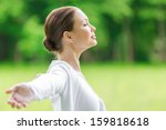 profile of girl with...   Shutterstock . vector #159818618