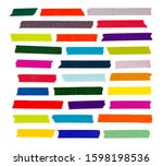 collection of colorful adhesive ... | Shutterstock . vector #1598198536