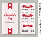 valentine special restaurant...   Shutterstock .eps vector #1598218279