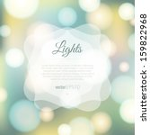 Magical background with colorful bokeh   Shutterstock vector #159822968