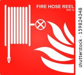 safety icon  fire hose  eps10 ... | Shutterstock .eps vector #159824348