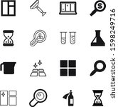 glass vector icon set such as ...