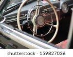 Steering Wheel In Old Car