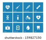 medical icons on blue... | Shutterstock .eps vector #159827150