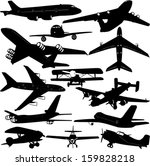 airplane collection 1   vector | Shutterstock .eps vector #159828218