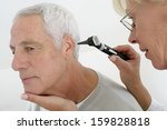 senior medical visit   hear... | Shutterstock . vector #159828818