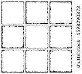 set of grunge frames. grunge... | Shutterstock .eps vector #1598290873