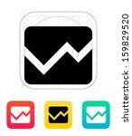 line chart icon. vector...