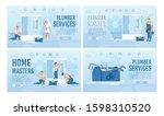plumbing repair service master... | Shutterstock .eps vector #1598310520
