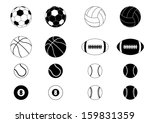 the set of black and white... | Shutterstock .eps vector #159831359