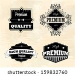 guaranteed  seals over vintage... | Shutterstock .eps vector #159832760