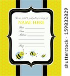 Baby Shower Invitation Bees