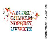 colorful vector alphabet... | Shutterstock .eps vector #159834728