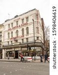 Small photo of London / UK - Nov 28, 2019: The Umbrella Shop at 53 New Oxford Street is largely unaltered and is a perfect example of Victorian shop front design. It remains as one of the landmarks of Central London