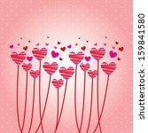 love design over pink...   Shutterstock .eps vector #159841580