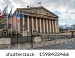Small photo of Paris, France - December 25 2019: The french national assembly in Paris - aka Assemblee nationale or Palais Bourbon