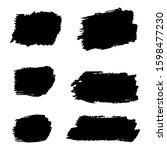 black distress brushes. grunge... | Shutterstock . vector #1598477230