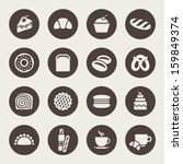 bakery icon set | Shutterstock .eps vector #159849374