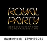 vector chic poster royal party  ... | Shutterstock .eps vector #1598498056