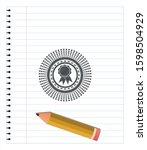 ribbon icon draw  pencil...   Shutterstock .eps vector #1598504929