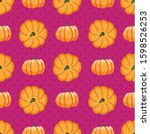 Seamless Pattern Of Pumpkins O...