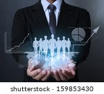 businessman with financial... | Shutterstock . vector #159853430