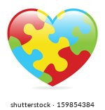 a colorful heart made of... | Shutterstock .eps vector #159854384