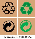 recycle symbol  | Shutterstock .eps vector #159857384