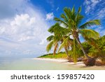 summer at a tropical paradise...   Shutterstock . vector #159857420