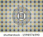 calculator icon inside arabic...   Shutterstock .eps vector #1598576590